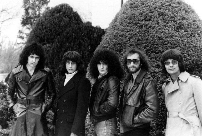 Rainbow en 1981: Blackmore, Turner, Rondinelli, Glover y Airey.